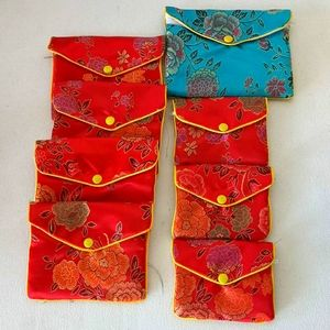 8 Asian Silk Pouches for Jewelry or Gifts